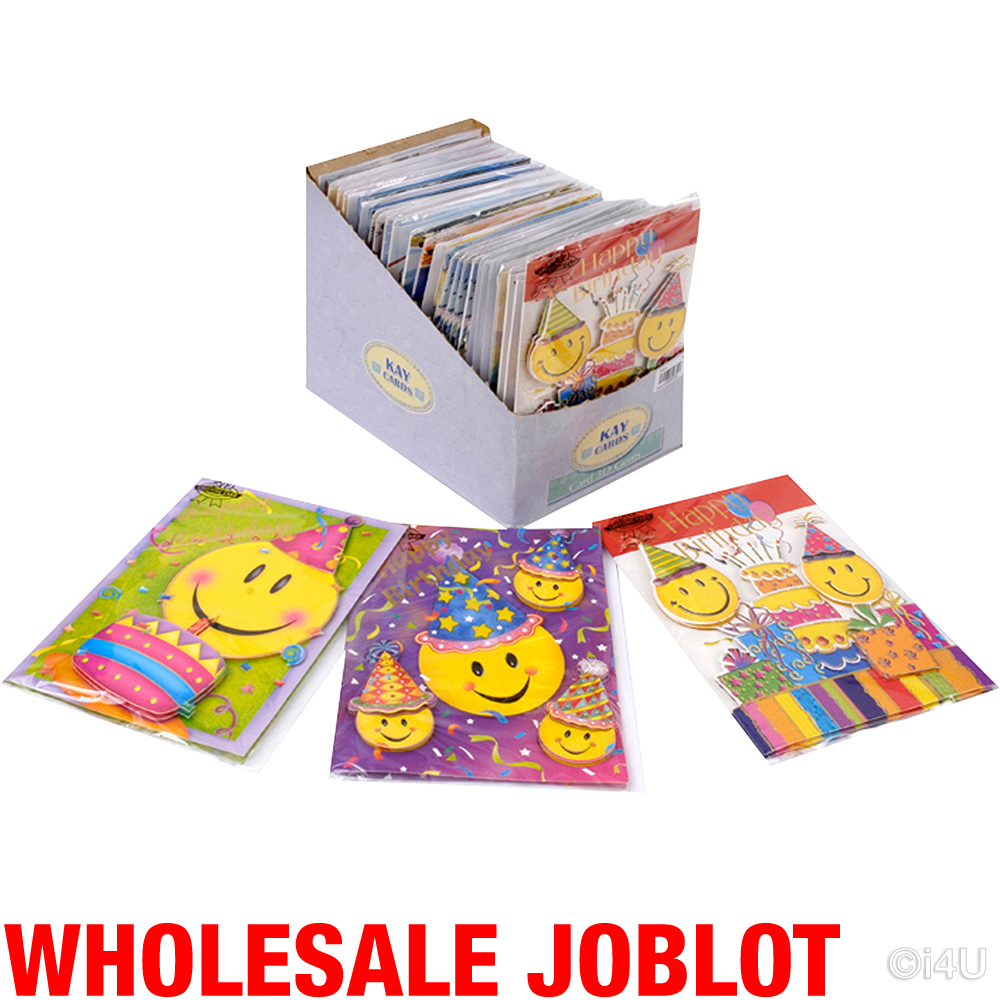 200 Birthday Greeting Cards 3d Kids Card Cute Wholesale Job Lot