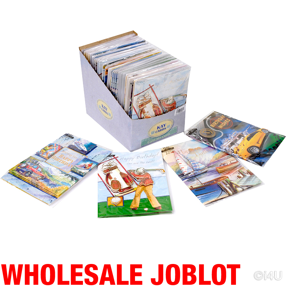 100 Birthday Greeting Cards 3d Gents Card Wholesale Job Lot Brand